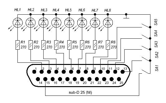 Все резисторы на схеме по 270