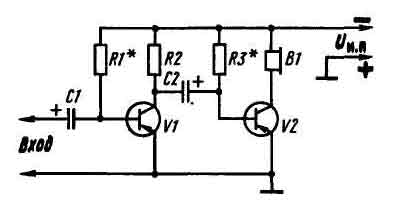 Двухкаскадный усилитель на транзисторах