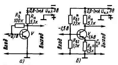 Усилительные каскады с термостабилизацией транзистора.