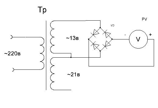 Схема подключения прибора для