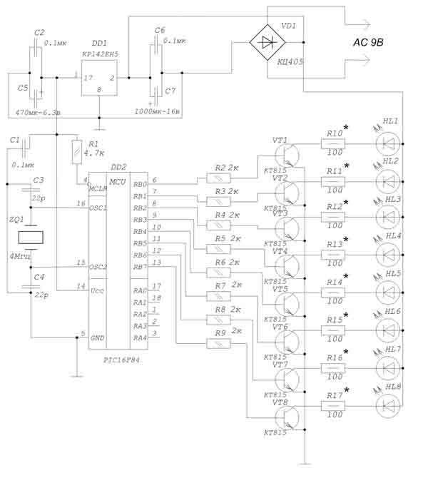 Схема информационного табло